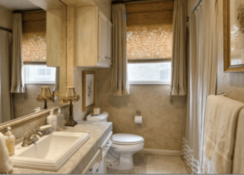 17 натхненних ідей для правильного вибору віконних штор для вашої ванної кімнати