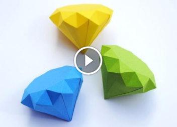 Відео-урок: 3D діамант з паперу!