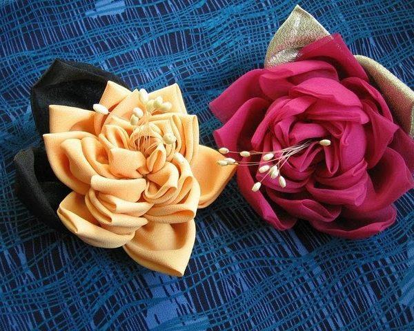 Цветы из ткани. Украшения ручной работы ВКонтакте