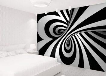 15 ідей настінного малюнку, наповненого оптичними ілюзіями