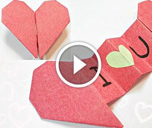 Сердечко з посланням в техніці орігамі. Відео-урок