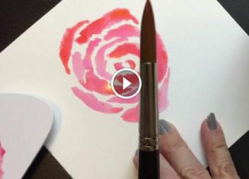 Малюємо троянду акварельними фарбами. Відео-урок