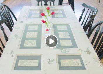 Креативний стіл зі старих дверей: відео-урок