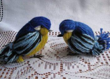 Пташки з ниток. Майстер-клас