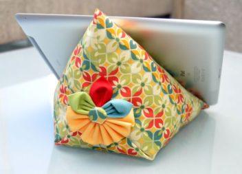 Тримач для планшету у вигляді подушечки. Викрійка
