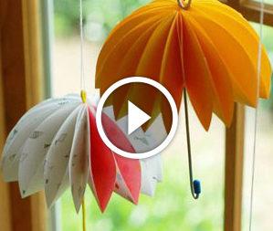 Декоративні парасольки. Відео-урок