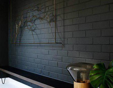 Ідеї використання чорної цегли в інтер'єрі