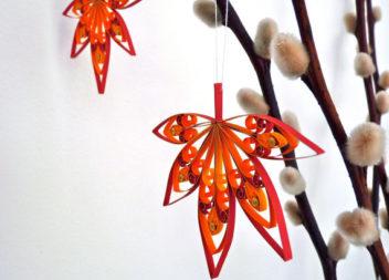 Осінні листочки у техніці квілінг. Ідеї