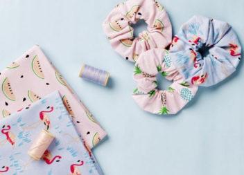 Резинки для волосся з обрізків тканин