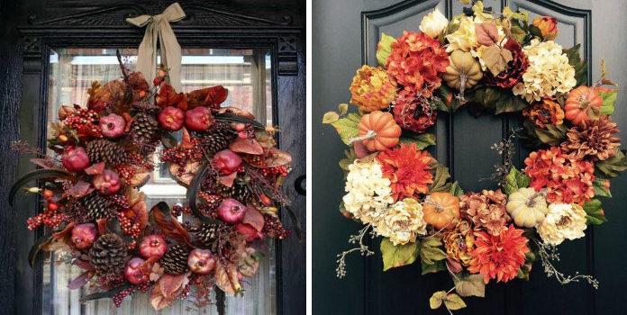 Осінь, привіт! Робимо декоративні віночки на двері (15 ідей)