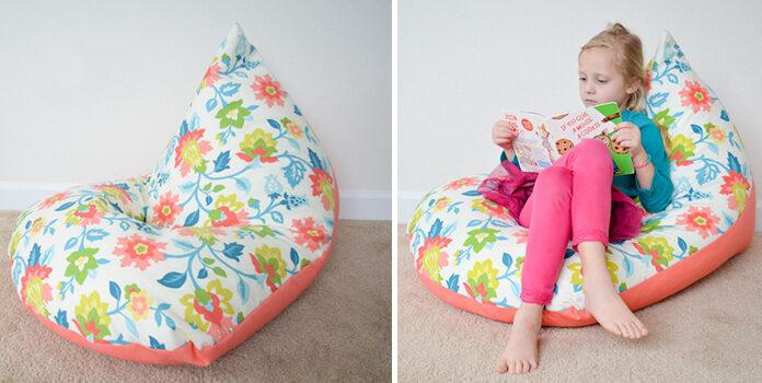 Як виготовити дитяче крісло-мішок на підлогу. Покрокова інструкція