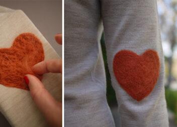 Латки в техніці валяння: креативний підхід, щоб полагодити одяг