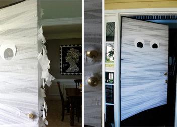 Декор дверей на Halloween