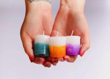 Декор свічок: кольорове натхення