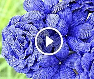 Квіти з гофрованого паперу: відеоурок
