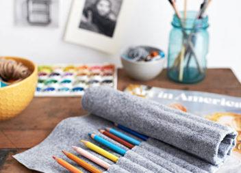 Чохол для олівців з фетру