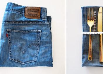 Серветка зі старих джинсів. Невеликий майстер-клас