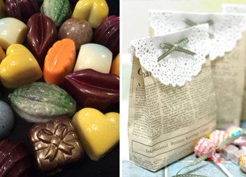 Створюємо своїми руками солодкі пакуночки з газети