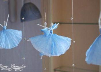 Декор: балерина зі серветок