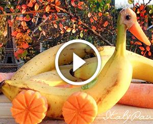 Святковий стіл: декор з банана