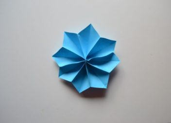 Квітка з паперу: урок орігамі