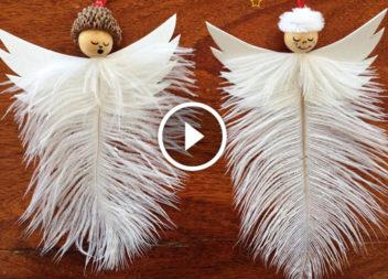 Різдвяні ангелики з пір'я