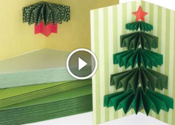 Готуємось до свят із дітками: листівка з 3D ялинкою