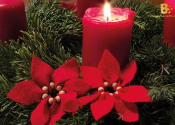 Різдвяна квітка з фетру: майстер-клас