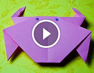 Техніка орігамі: паперовий краб