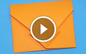 Опановуємо орігамі: міні-конверт
