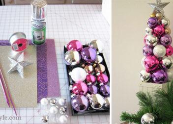 Стильний декор до Нового року: ялинка з кульок