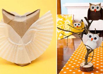 Іграшка власноруч: сова з картону