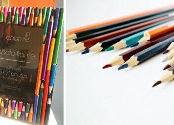 Рамка з кольорових олівців