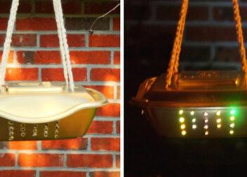 Романтичний нічник з одноразової форми для випічки та гірлянд (фото-урок)
