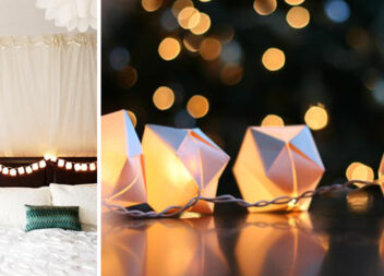 Декор гірлянди: коробочки орігамі