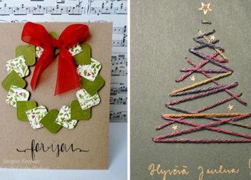 Ідеї різдвяних листівок, які може зробити вдома кожен (14 варіантів)