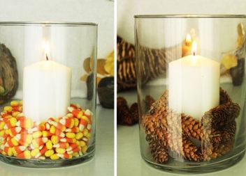 5 варіантів декору свічки в стилі еко