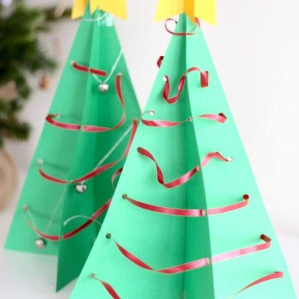 Alberi Di Natale Di Carta.Albero Di Natale Di Carta Idea Per Le Feste Fai Da Solo