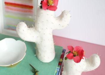 Ваза-кактус з полімерної глини