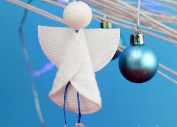 Ангелик з ватних дисків: прикраса до Різдва