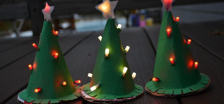Паперова ялинка: різдвяний декор