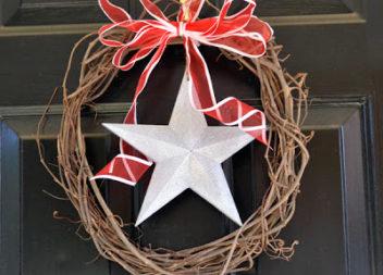 Різдвяний вінок з виноградної лози: майстер-клас