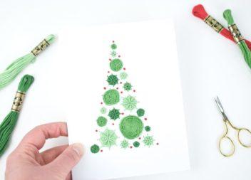 Вишиваємо новорічну листівку: майстер-клас