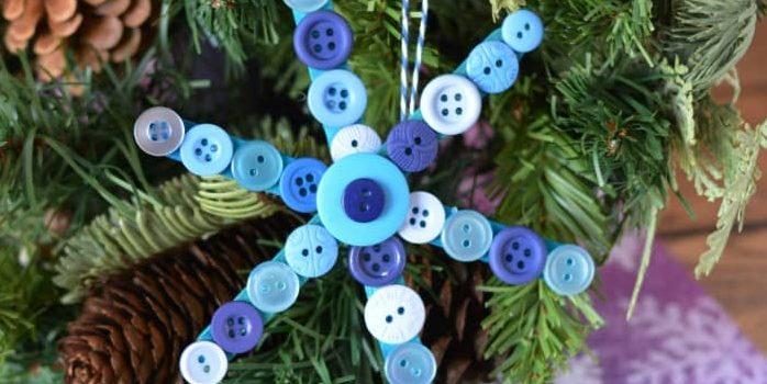 Сніжинка з ґудзиків: різдвяний лайфхак