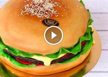 Торти у вигляді їжі та напоїв: відео-урок