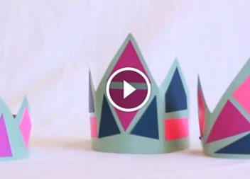 Корона снігової принцеси: відео-урок