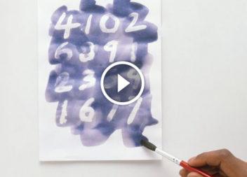 Фокус: невидиме чорнило! Відео-урок