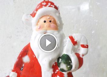Санта Клаус з пластикової пляшки: незабаром Новий рік!