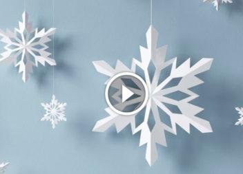 Паперові сніжинки: майтер-клас