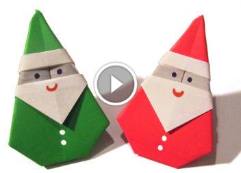 Дід Мороз в техніці орігамі: відео-урок